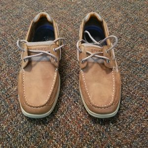 Sperry Topsider Leather Boat Shoes Men's Size 8W